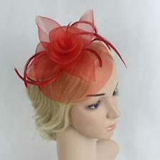 Wedding Bridal Feather Fascinator Hat Hairpin Ladies Tea Church Party Hat