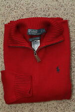 Polo Ralph Lauren Cable Knit Half-Zip Sweater Red New NWT