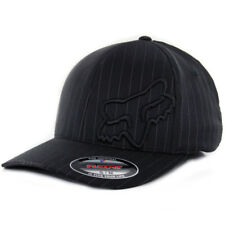 "Fox Head Racing ""Flex 45"" FlexFit Hat (Black Pinstripe) Men's Moto Stretch Cap"