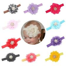 1 PC Baby Girls Elastic Pearl Flower Headband Infants Toddler Hair Band Headwear