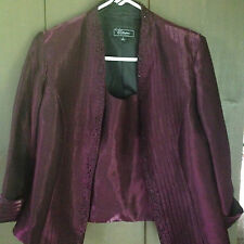 DRESS BARN NWT SIZE 10 LAVENDER SUIT JACKET AND SLEEVELESS TOP MSRP $ 69.99