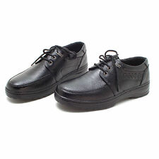 New Mens Genuine Leather Black Classic Casual Formal Shoes Sneakers