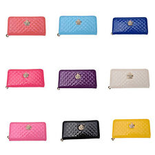 WOMEB Crown Handbag Purse Lady Women Zipper Bag Clutch Long PU Leather Wallet C