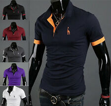 Casual Style Mens Hot Slim Fit Fashion Short Sleeve T-shirt Tops Tee POLO Shirt