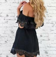 Evening Cocktail Sexy Sleeveless Mini Summer Dress Lace Women Casual Party