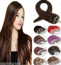 5A Easy Micro Ring Bead Tip Loop Remy Human Hair Extensions Straight 16''-26''
