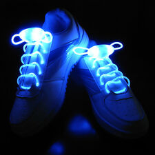 Pop LED Shoelaces Flash Light Up Glow Stick Strap Shoelaces Disco Party 1 Pair