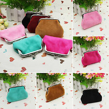 Women Small Wallet Change Coin Pouch Clasp Purse Hasp Clutch Card Holder Handbag
