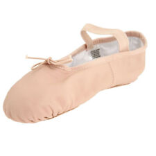 Elegant Pig Leather Elastic Strap Soft Girls Women's Ballet Slippers Shoes Pink