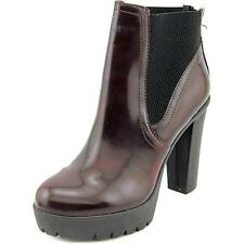 Steve Madden Amandaa Women  Round Toe Synthetic Red Ankle Boot NWOB