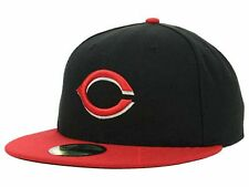 Cincinnati reds Bk Red MLB Hats Logo Red White New Era 59Fifty Fitted Caps