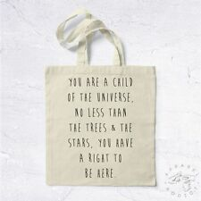 NEW Tote Bag Child Of The Universe BIO HANDMADE World Right Hippie Roots Psy