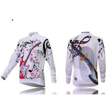 Women Long Sleeve Cycling Jersey Team Mtb Bike Cycle Jacket Lady Bicycle Shirt