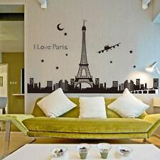 Paris Eiffel Tower Night Fluorescent Wall Sticker Mural Vinyl Decal Home Decor ;