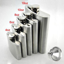 Portable 8 Size Stainless Steel Hip Flask Flagon Wine Pot Bottle