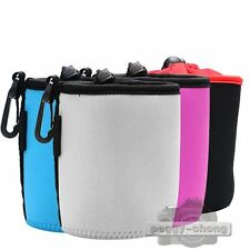 New Neoprene Soft Camera Lens Pouch Case Bag Cover Protector DSLR Size: S+M+L+XL