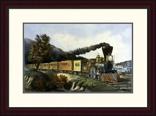 'American Express Train' by Currier and Ives Framed Painting Print