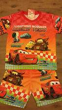 New Disney Cars Lightning McQueen Set T-shirt with Shorts Pajamas Sz 3/4,5/6,7/8