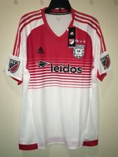 NEW Mens Sz XL ADIDAS MLS DC United Authentic White Red Away S/S Soccer Jersey