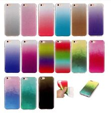 Gradient Bling Glitter Soft TPU Case Clear Cover Back Shell For Various Phones