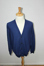 Maison Martin Margiela paris cotton classic Cardigan Knit Jumper Blue
