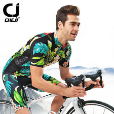 Retro Mens Cycling Jersey Suit Short Sleeve Jacket (Bib) Shorts Bicycle Set XXXL