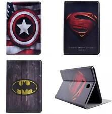 Super Hero Artificial Leather Flip Case Cover Shell  For Apple Samsung Tablet PC