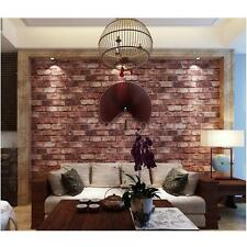 3D Faux Brick Waterproof Retro Style Wallpaper Wall Background Room Decor D1H5