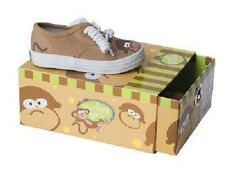 Silly MONKEY TENNIS SHOE Tan Brown Monkey-Toes Canvas Shoes Infant/Toddler