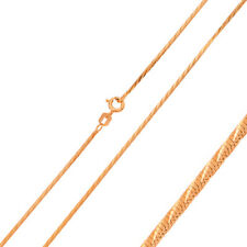 1mm 925 Sterling Silver Snake Chain Necklace / Rose Gold Plated made in italy
