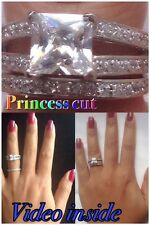 Ring Engagement & Wedding Engagement/Wedding Ring Sets Sterling Silver