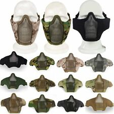 Tactical Paintball Mask Metal Mesh Nylon Half Face Protector Protective Gear