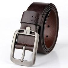 Mens Casual Dress Belts Reversible Real Leather Waist Belt with Pin Buckle
