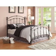 NEW Vintage Full King Metal Four Poster Bed Headboard Footboard Antique Brass