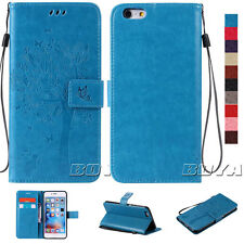 Card Holder Wallet Folding Case for iPhone Samsung Phones PU Leather Flip Cover