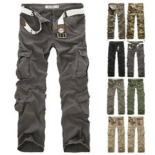 Men's Camouflage Combat Cotton Army Camo Trousers New Military Cargo Pants