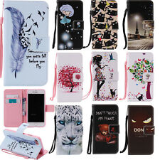 """Cute Patterns Phone Case for iPhone 7 4.7"""" PU Leather Wallet Folding Cover Skin"""