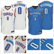 Russell Westbrook #0 Oklahoma City Thunder Swingman Basketball Jersey Blue/White