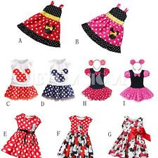 Fad Cute Minnie Mouse Girls Kids Top Bows Shirt Skirt Clothes Dress Baby Outfits