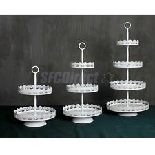 Vintage Metal Cupcake Muffin Stand Wedding Party Cake Display White 2/3 Tier