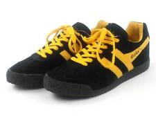 original Gola Trainers Shoes Harrier black yellow leather new