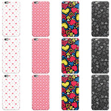 HEARTS PATTERN DESIGN LOVE HEART HARD CASE COVER FOR APPLE IPHONE MOBILE PHONES
