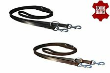 """1"""" WIDE LEATHER POLICE DOG TRAINING LEAD WITH SOLID BRASS FITTING"""