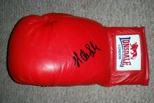 James DeGale signed red Lonsdale boxing glove AFTAL PROOF