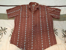Ely Cattleman Vintage Men's XL Pearl Snap Button Front S/S Western Shirt