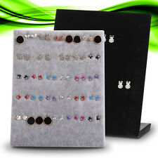 Organizer Holder Stud Velvet Show Stand Type L Display Rack Jewelry Earrings