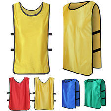 Sports Soccer Football Rugby Training BIBS Mesh Vest Kid Adult Scrimmage Jersery