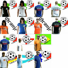 TICILA Football WORLD CUP EURO CHAMPS Fan T-Shirt Jersey S/M/L/XL/XXL Women
