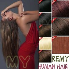 "18"" 20"" 22"" 100% True AAA+ Human Hair Extensions Clip In Wholesale 8 Piece HQ301"