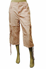Womens Vianni 3/4 Cargo Combat Trousers Baby Pink Size 14 to 20 Ladies C9.5